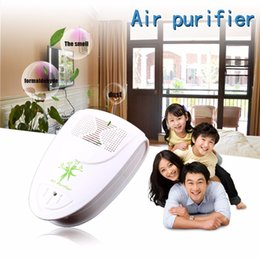 Discount home purifier ionizer - Wholesale-Mini Indoor Oxygen Bar Ionizer Air Fresh Purifier Home Wall 110 220V With Adapter Home Autocar Negative Ion Pu