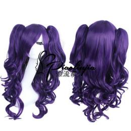 $enCountryForm.capitalKeyWord NZ - Dark Purple LOLITA Long Wavy 2 Clip Ponytail Cosplay Party Wig Hair