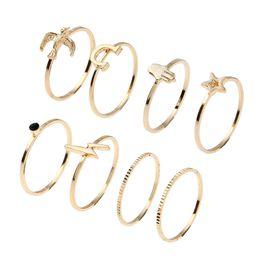 $enCountryForm.capitalKeyWord NZ - New Peace Dove Magnet Pentagram Shape Set Gold Ring Pop Combination loop Yiwu Small Jewelry Wholesale