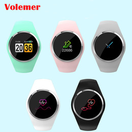touch screen sport bracelet NZ - Volemer Q1 Smart Bracelet Fitness Tracker Heart Rate Monitor Smart Ring Cute Touch Screen Waterproof Sports Band