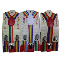Discount boys striped suspenders - Free Shipping 2017 New Cute Kids Child Toddler Multicolor Rainbow Striped Suspenders For Boys Girls