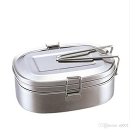 Wholesale Stainless Steel Two Deck Lunch Boxes With Handle Student Tableware Multi Function Dinner Bags Many Sizes Hot Sale sy3 ZZ