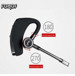 Wholesale V8S Business Bluetooth Headset Phone Handsfree Voice control Wireless Earphone Car Bluetooth V4 Right and left ears