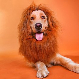 Wigs for summers online shopping - Pet Costume Hair Ornaments Dog Cat Lion Mane Wigs Durable Keep Warm Head Hat For Halloween Decoration yy4 B