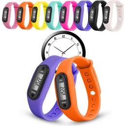 $enCountryForm.capitalKeyWord NZ - Silicone Fitness Watch Bracelet Digital LCD Wristband Pedometer Running Walking Distance Calorie Counter Wrist Sport Tracker