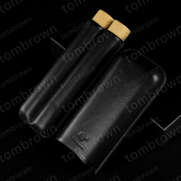 $enCountryForm.capitalKeyWord NZ - Beautiful new quality production COHIBA Leather Holder 2 Tube Travel Case and Cigar Humidor suit for cuban cigar