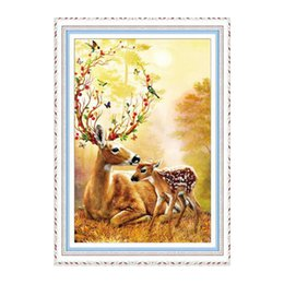 5d diamond UK - Special shape Diamond Embroidery Sale 5D diamond painting full round Animals Cross Stitch Rhinestone Drill Mosaic Art deer new