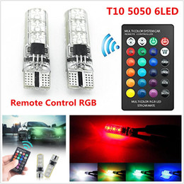 AdditionAl brAke light online shopping - 12V Car RGB LED Light T10 W5W SMD W Auto Interior Dome Wedge Reading Light Strobe Lamp Bulb With Remote Control