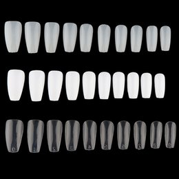 Chinese  100 600Pcs 3D Long False Ballerina Nails Tips Coffin Shape Full Cover False Fake Nails DIY Nail Art Tips Decoration Manicure manufacturers