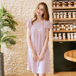 62e1de867bf Fashion Princess Nightgown Girls Sexy Lace Trim Lingerie Dress Sleepwear  Sleepshirts Women Spring Summer Nightdress Home W