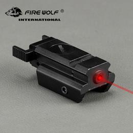 TacTical pisTol lighTs online shopping - Tactical Gun Laser Sight Hunting Optics Mini Red laser Sight Scope Pistol Airsoft Gun mm Rail Use