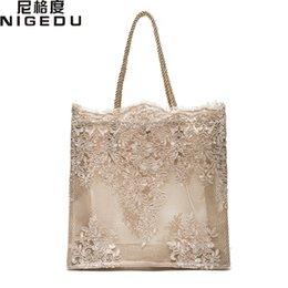 wedding bridal hand bags ladies handbags Australia - Lace lace ladies handbag 2017 summer new Dinner Wedding Bridal Party Hand Bag bolsa feminina Women's shoulder bag Shopping Bag Y18102504