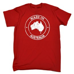Wholesale Made In Australia MENS T SHIRT tee birthday oz ozzie aussie nation beer funny Funny Unisex Casual tee gift