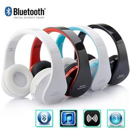 Wireless Headphones Mic Blue Australia - Foldable Wireless Bluetooth Stereo Bass Headphone w Mic for iPhone Handfree nx-8252