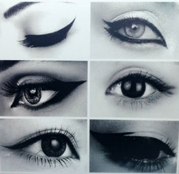 New and Hot 6 in 1 Stencils Eyeliner Template Smoky Makeup Guide Cat Eye Liner Quick Tool smbb