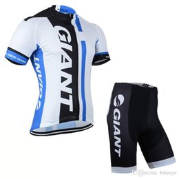 Lycra Sports NZ - GIANT team Cycling Short Sleeves jersey (bib) shorts sets Bicycle summer Breathable Lycra sport wear clothes Bicycle Ropa Ciclismo C1518