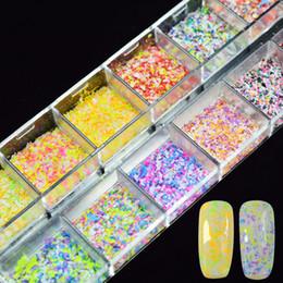 Discount snow nails - 1Box Colorful Irregular Nail Sequins Glitter Dust Snow Flower Paillette Manicure Nail Art Glitter Sheet Decorations DIY