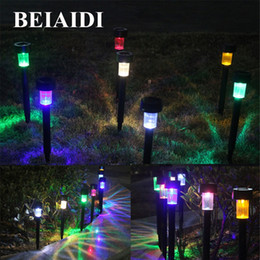 Wholesale BEIAIDI Solar Pathway Landscape Lights Outdoor Garden Patio Yard Deck Lawn Lamps Solar LED Spike Spot Light Spotlight