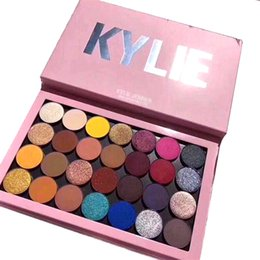 Eye Glitter Free Shipping Australia - 2018 new explosion kylie28 color magnet eye shadow pearlescent matte multicolor eye shadow disc DHL free shipping