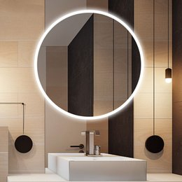 Discount mirrored clothing - Bathroom Mirror LED wall lamp wash toilet wash bathroom wall lamp bathroom mirror hanging LED lights clothing store mirr