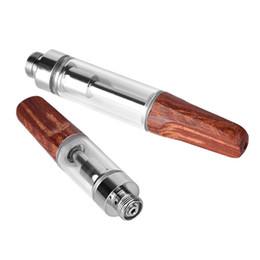 $enCountryForm.capitalKeyWord UK - Pyrex Glass Cartridge Ceramic Core O Pen Vapor Cartridge TH205 Wood Top 0.5 1.0ml 510 Thread Wood Mouthpieces Vaporizer ECig Cigarette