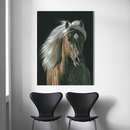 $enCountryForm.capitalKeyWord UK - Horses Animal Decorative,Pure Hand Painted Animal Art Oil Painting On Thick Canvas.High quality canvas Multi Sizes A092