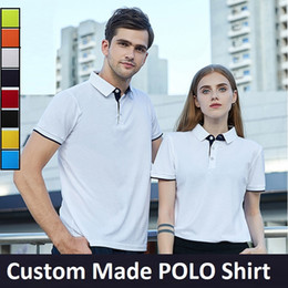 $enCountryForm.capitalKeyWord Canada - Custom Made Men Polo Shirt Tops S-3XL Plus Size Black White Red Orange Yellow Navy Sky Blue Green 8 Colors Free Shipping Drop Shipping