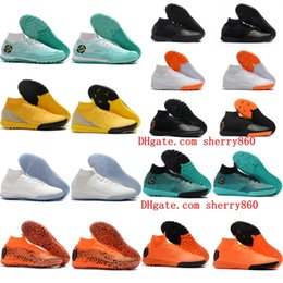 f6dfff8cb18 2018 mens soccer cleats Mercurial Superfly VI 360 Elite Neymar IN TF high  ankle soccer shoes cr7 indoor football boots turf top quality Hot
