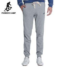 7e6df80469c Pioneer camp joggers hombres 2017 de calidad superior pantalones casuales  hombres ropa de marca pantalones deportivos pantalones azul oscuro rojo  gris negro
