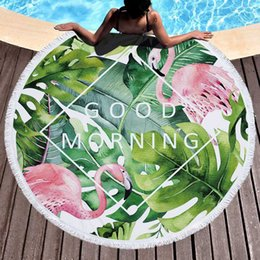 Helpful Lannidaa Banana Leaf Tiger And Flamingo Round Beach Towel Flowers Microfiber Towels For Adults Travel Sport Outdoor Picnic Mats Home