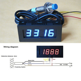 $enCountryForm.capitalKeyWord NZ - Freeshipping Digital blue LED Punch Tachometer RPM Speed Panel Meter 5-9999RPM Tacho Gauge + Hall Proximity Switch Sensor 12V 8-15v