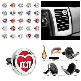 Discount bohemian home decor - 26 Bohemian Styles 30mm Essential Oil Air Freshener Car Locket Clip&10pcs Pad Car Air Freshener Parfum Home Decor Car Ac