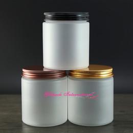 Toptan satış 30 adet / grup 250g 8 oz PET Plastik Kozmetik için Buzlu ambalaj kapları, boş losyon kavanozları 250 ml güzel kozmetik ambalaj buzlanma kavanoz.