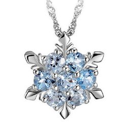 $enCountryForm.capitalKeyWord UK - Charming Jewelry Natural Temperament Zircon Snowflake Shaped Pendant Necklace 2 Colors Drop Shipping NL-0945