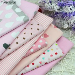 pink patchwork bag NZ - 2018 pcs Pink cartoon Cotton Fabric for DIY Patchwork Sewing Kids Bedding Bags Dot Tilda Doll Cloth Textiles Fabric 40*50cm