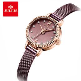 $enCountryForm.capitalKeyWord NZ - Julius Women Stainless Steel Mesh Bracelet Watches Creative Gear Dial Ladies Quartz Wrist watch Female Clock