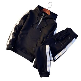 China 2018 brand sporting suit men warm hooded tracksuit track men's sweat suits set letter print large size sweatsuit male 5XL cheap sweatsuit men suppliers