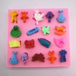 $enCountryForm.capitalKeyWord NZ - Mini baby cart key, bird building block, whale, silica gel, sugar mold