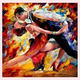 $enCountryForm.capitalKeyWord Australia - 100% Handmade High Quality Modern Wall Art Ballet Dancers Palette Knife Oil Painting Decoration On Canvas