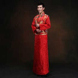 b7575d396172d New Red Groom Wedding Clothing Chinese Menu0027s Costume Improved Male Tang  Suit Wedding Traditional Gown Dress Free Shipping Sc 1 St DHgate.com