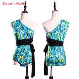 $enCountryForm.capitalKeyWord Australia - Girls Latin Dance Body Suit Competition Practice Costume Lady Women Rumba Samba Tango Cha Cha Salsa Single Shoulder Sexy Clothes Outfit