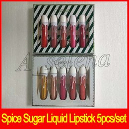 China Hot Spice Sugar Lipgloss Matte Liquid Lip Kollection 5pcs set Christmas collection lipgloss set high quality dhl free suppliers