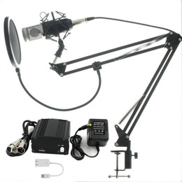 RecoRding micRophones online shopping - Full Set Microphone Professional BM800 Condenser KTV Microphone Pro Audio Studio Vocal Recording Mic Metal Shock Mount