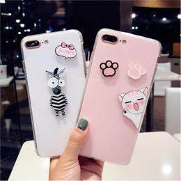 Cute Cat iphone online shopping - Cat Pink Black Silicone Phone Case For Iphone X Cute Case For Iphone Plus
