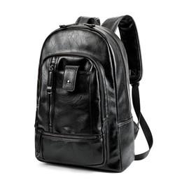 western style backpacks 2019 - Men Oil Wax Leather Backpack Men's Casual Backpack & Travel Bags Western College Style Man Backpacks Mochila Zip Me