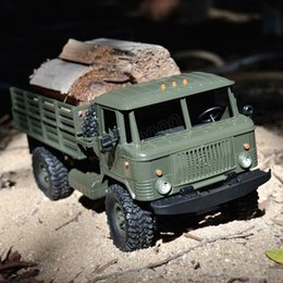 Green Truck Cars Australia - Rc cars Naughty dragon b-24 rc trucks four-wheel drive off-road climb 1:16 military electric model toy rc car