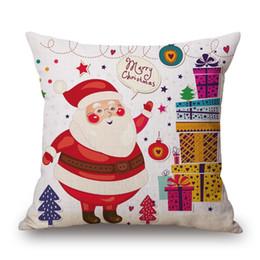 75bbbff493a2 Custom Throw Cushions Australia - Merry Christmas Custom Cushion Covers  Santa Claus Throw Pillow Case Deer