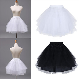 wedding dresses for dancing NZ - YiZYiF Ballet Dress Kids Girls 3 Layers Net Petticoat Underskirt Crinoline Slip Petticoat for Flower Girls Wedding Dress