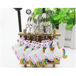 $enCountryForm.capitalKeyWord Canada - Unicorn Keychain Keyring Cellphone Charms Handbag Pendant Kids Gift Toys Phone Decoration Accessory Horse Key Ring YSK 003(2)