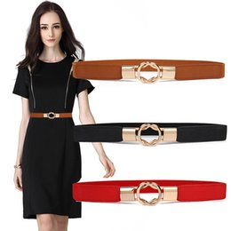 $enCountryForm.capitalKeyWord Canada - Elastic PU Leather Waist Belts For Women belt elastic waistband Ladies Designer Belts Black Brown Red Vintage Female F1